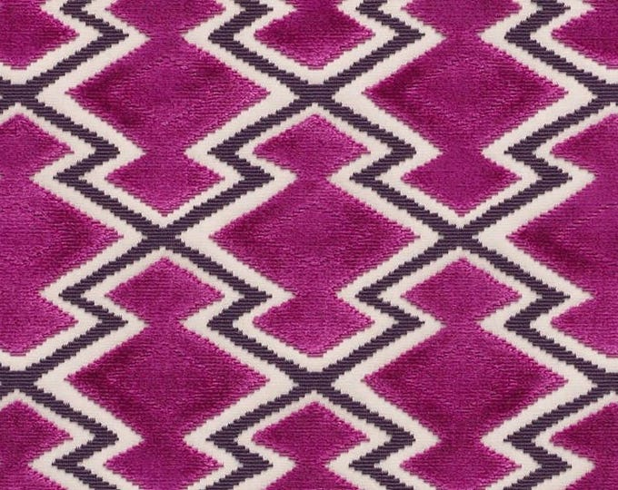 Wow Magenta Velvet Dedar Fabric
