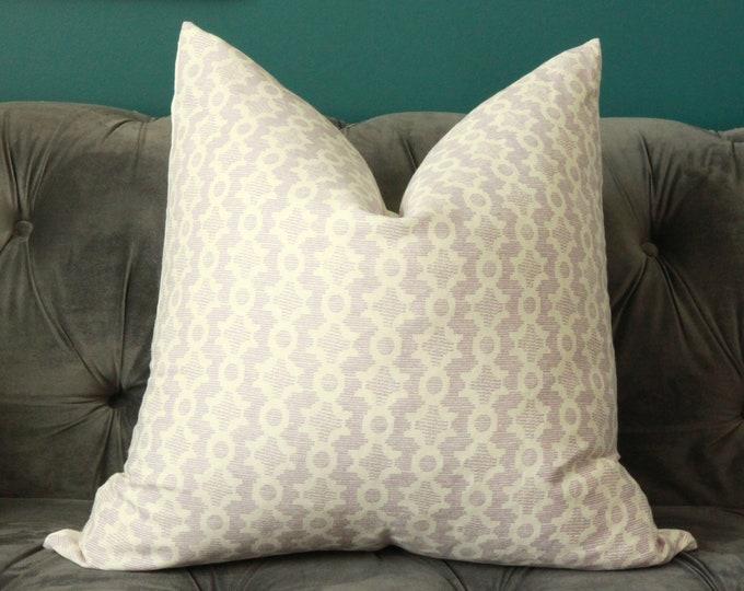 Sister Parish Pillow Cover - Purple Pillow Cover - Clara B Parma