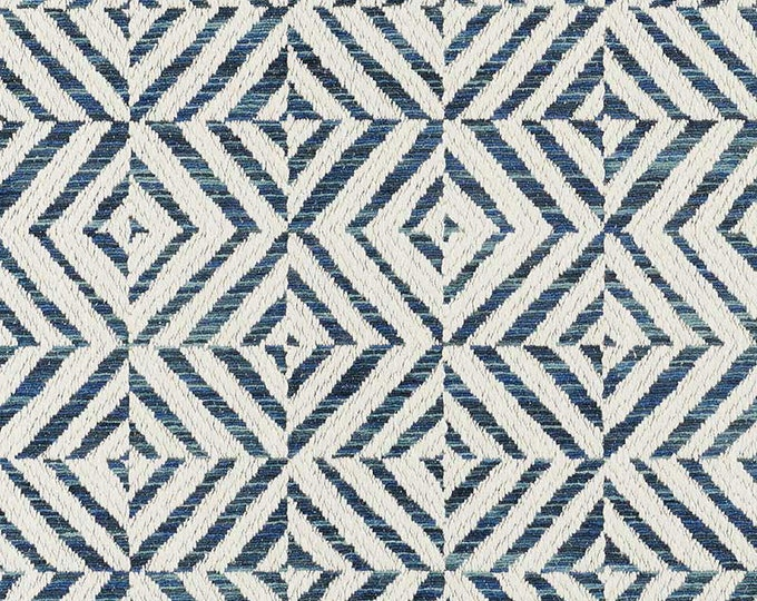 Schumacher Jubilee in Blue Pillow Cover  - Geometric - Graphic Pillow Cover