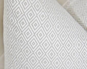 Schumacher Pillow Cover - Greige Geometric Pillow - Neutral Pillow - Beige Pillow Cover - Throw Pillow - Sofia Diamond Pillow