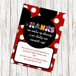 Mickey Mouse Birthday Thank You Card