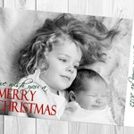Full One Photo Holiday Card