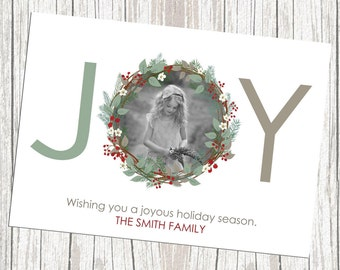 Photo Holiday Card - One Photo, Print yourself
