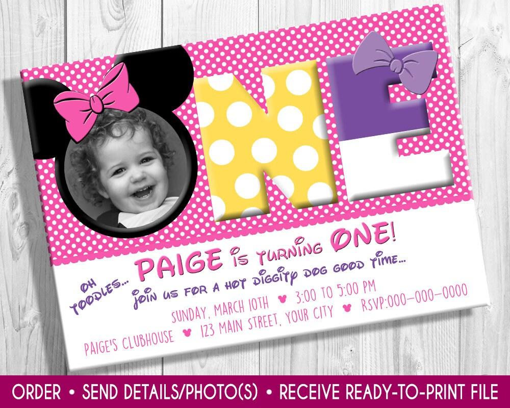 Minnie Mouse Photo birthday invite Minnie Mouse invite  cf4df3da2d5