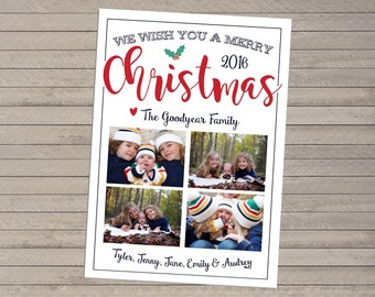 Four Photo Christmas Card