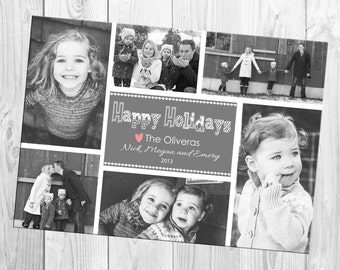 DIY Print Yourself Multiple (six) Photo Christmas Card