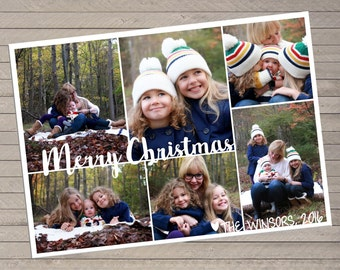 Six Photo Christmas Card