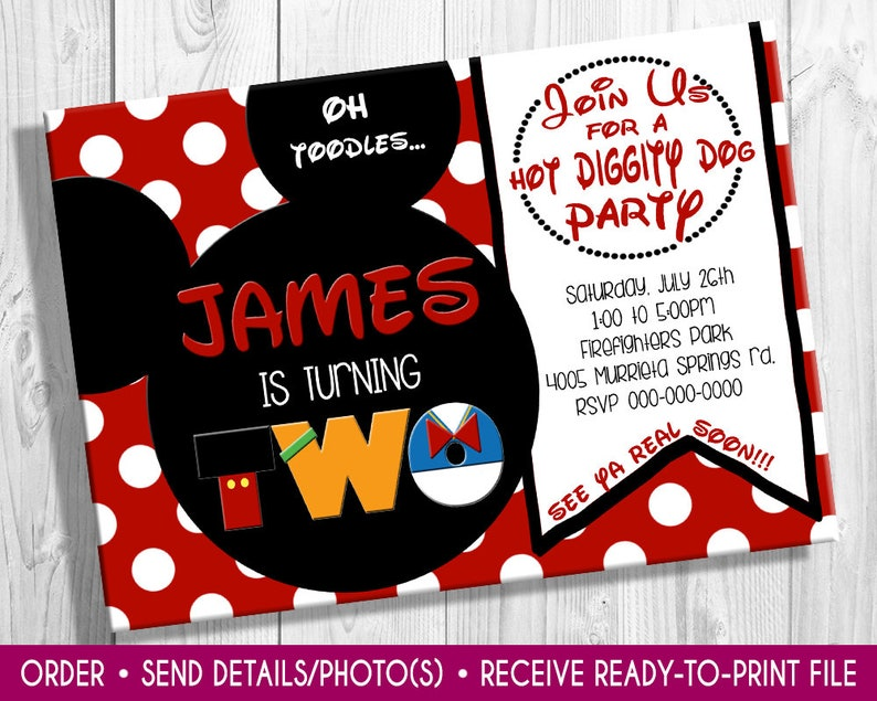 Mickey Mouse birthday invite mickey mouse invitation first birthday Mickey mouse birthday mickey mouse invite minnie mouse birthday