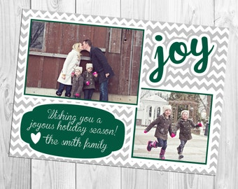 DIY Print Yourself Two Photo Christmas Card