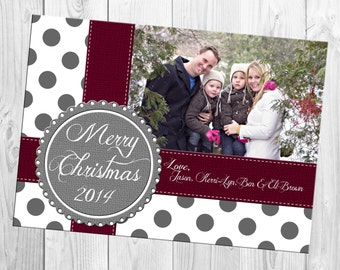 DIY Print Yourself One Photo Christmas Card