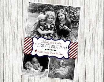 Multiple (Three) Photo Christmas Card