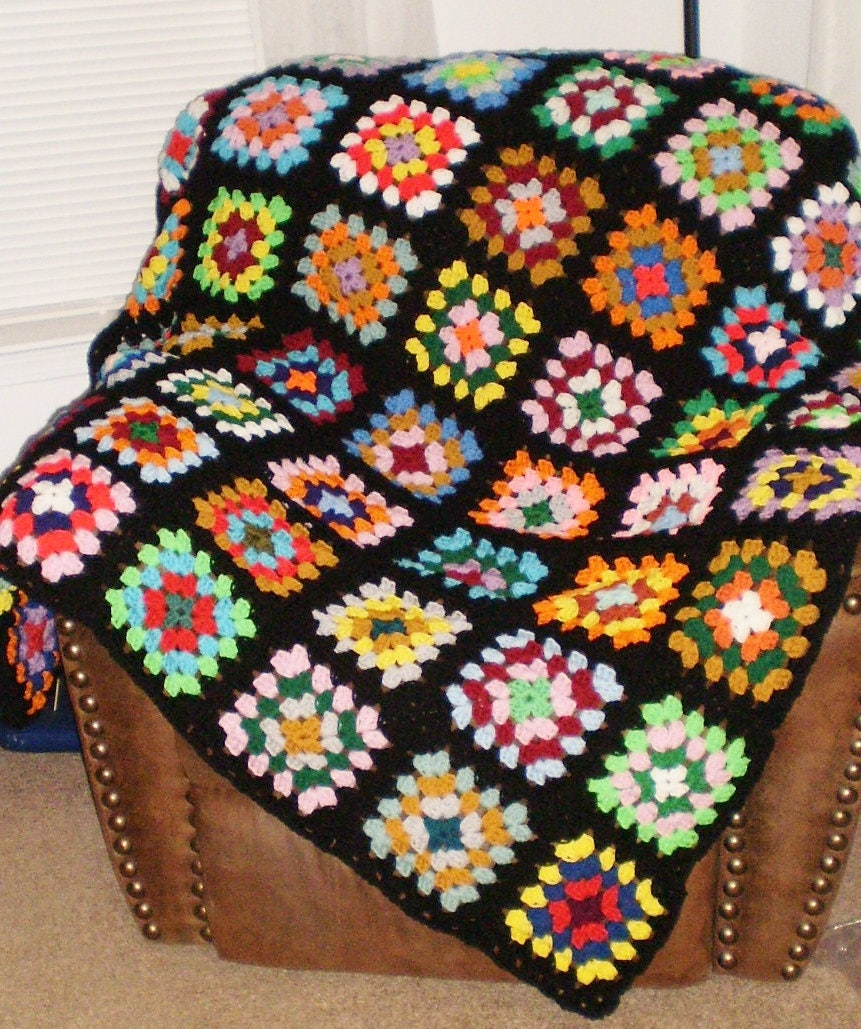 New Homemade Crochet Afghan Roseanne Or Big Etsy