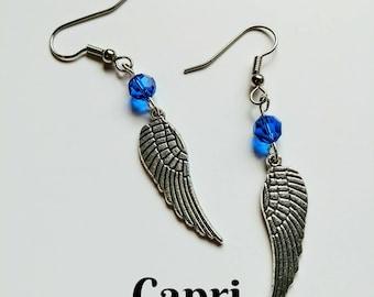 Swarovski Crystal Angel Wing Earrings