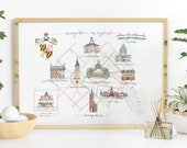 Annapolis, Maryland illustrated Map Print