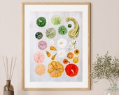 Oh My Gourd! Illustrated Print