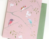 Aviary  (Bird wallpaper) Set of 5 cards
