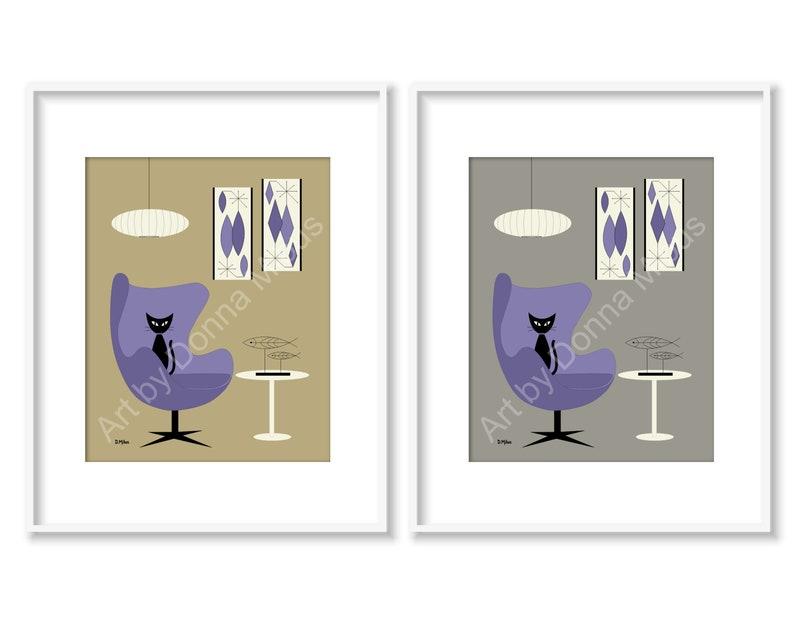 Contemporary Art Print Modern Art Mid Century Art Print Egg image 0