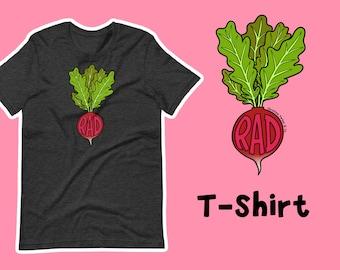 Beet Farm to Table T-ShirtShirtTopTee Radish Onion Ginger Vegan Veggies Vegetarian Carrot Colorful Root Vegetables