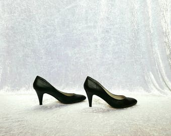 HIGH HEEL SHOES Black Pumps Black Heels Shoes Thin Heels Black Shoes Heel Shoes Elegant Shoes 80s womens shoes