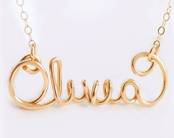 Name Necklace- Custom Jewelry Name Necklace, Gold Name Necklace, Silver Name Necklace, Personalized Name Necklace, Personalized Necklace
