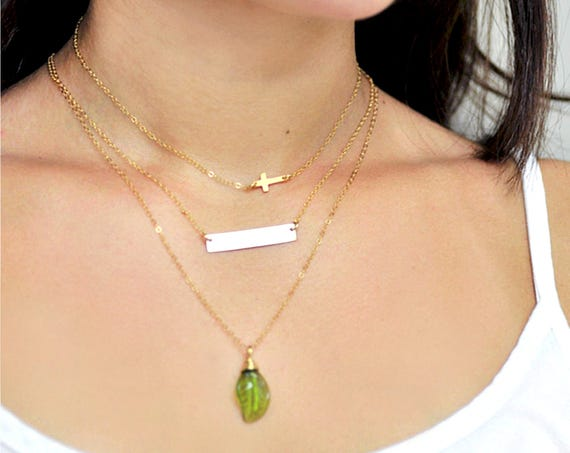 Bar Necklace Personalized, Dainty Bar Necklace, Gold Bar, Silver Bar, Word Necklace, Personalized Name Necklace, Handstamped Bar Necklace