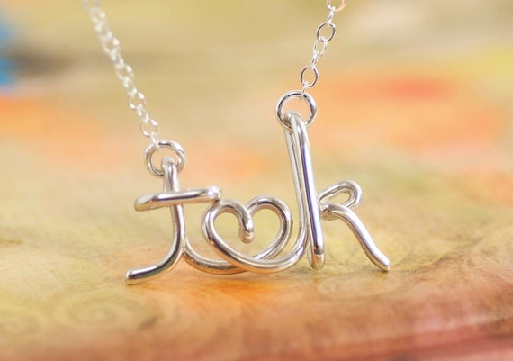 Couples Necklace, Name Necklace, Valentine's Gift, Silver Initial Necklace, Custom Necklace, Gift For Couple, Personalized Initial Necklace