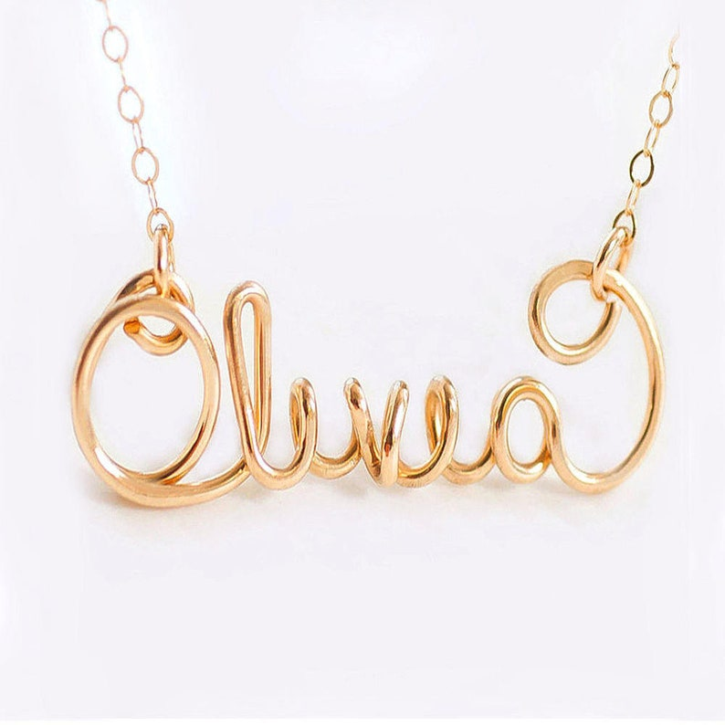 Custom Name Necklace Silver Name Necklace Gold Name image 0
