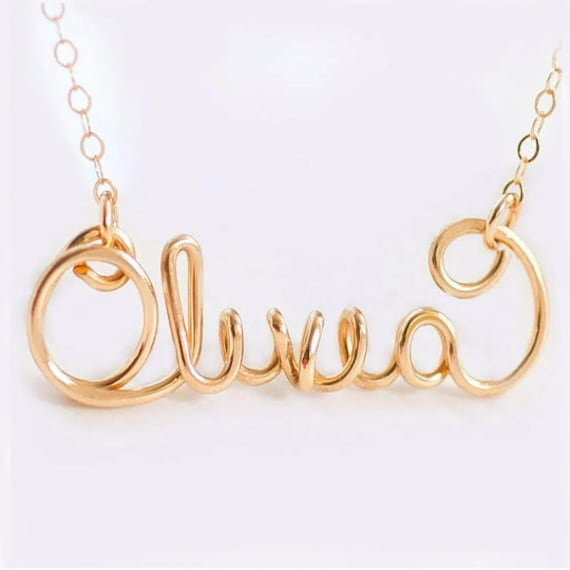 Personalized Name Necklace, Name Necklace Silver, Gold Name Necklace, Personalized Gift, Custom Name Necklace, Name Plate Necklace