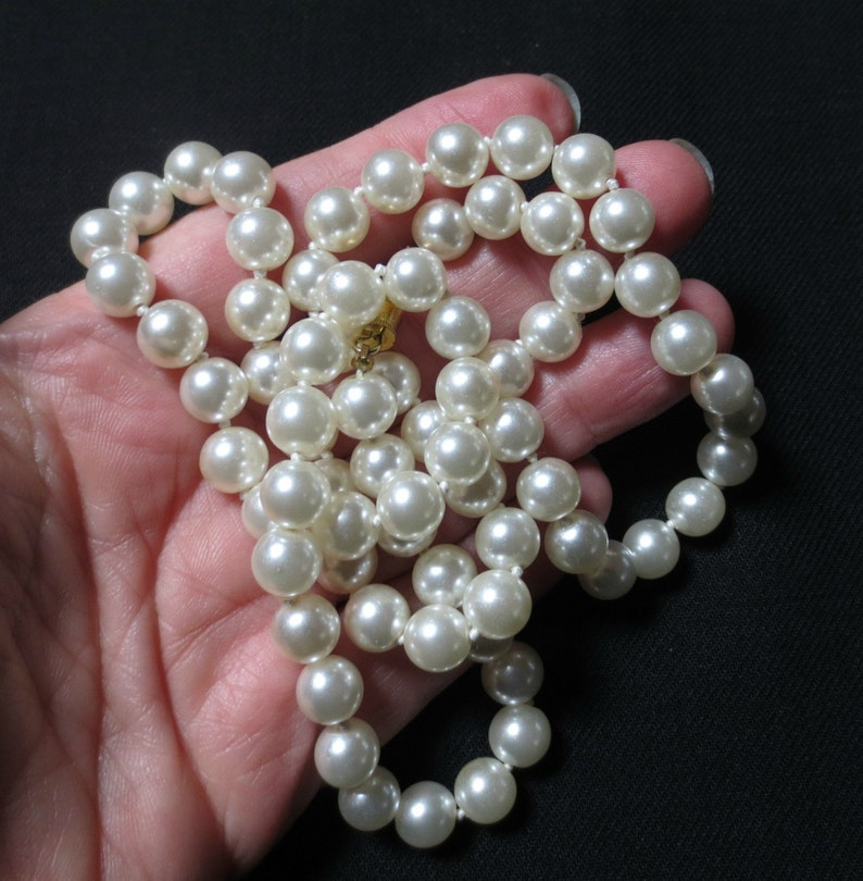 24 Stunning Faux Pearl Necklace from Grebitus & Sons image 0