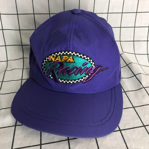 Vintage Checkered NAPA Racing Nylon Baseball Cap Hat  d837463a290