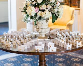 Zoo wedding // zoo place card holders // zoo reception / zoo party / zoo decor // Zoo Wedding Escort Card Holders // 100 animal magnets