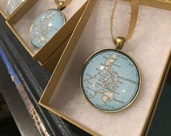 Custom Map Ornament 35mm