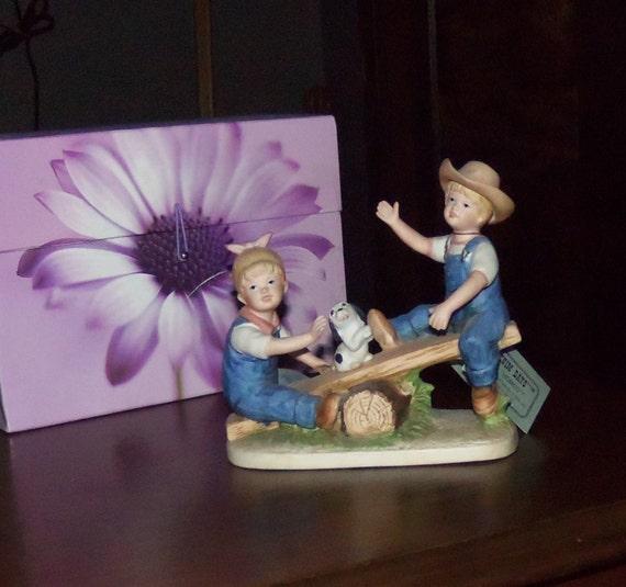 Denim Days Homco Home Interior Figurine 1985 Playtime Etsy