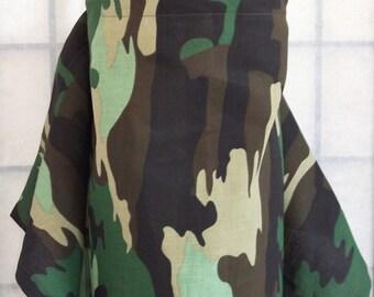 Green Camo Nursing Cover