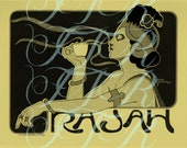 Belle Epoque French Coffee Espresso Poster Rajah 1900 39 s Digital Download
