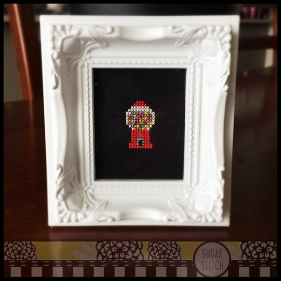 Gumball Machine Cross Stitch Printable Pdf Pattern Etsy