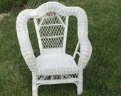 White Wicker Chair 100 Natural Rattan Children 39 s Furniture Patio or Kids Room Furniture