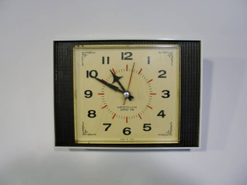Westclox Made In Usa Vintage Wall Clock Or Desk Clock Etsy