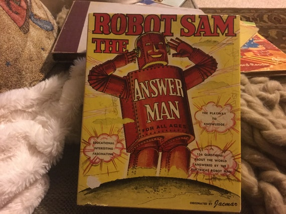 Vintage Robot Sam The Answer Man by Jacmar it works!