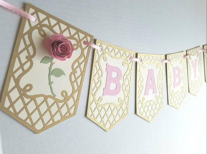 Baby Banner Baby Dusche Babys Namen Brautdusche Alles Gute Etsy