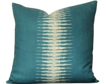 Peter Dunham Ikat Pillow Cover in Peacock