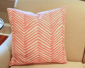 Ready To Ship -- Alan Campbell Pink Zig Zag Pillow Cover