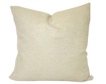 Metallic Gold Linen Pillow Cover