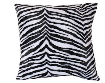 Ready to Ship -- Velvet Zebra Print Pillow