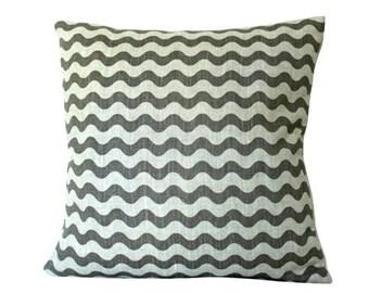 Ready to Ship -- Studio Bon Ric Rac Pillow Cover In Dove Grey