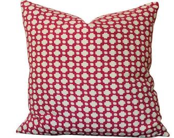 Schumacher Betwixt Pillow Cover in Magenta