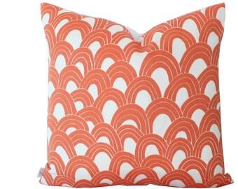 Outdoor Pillow Cover in Trina Turk Schumacher Orange Arches