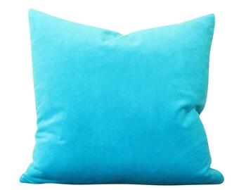 Turquoise Velvet Pillow Cover