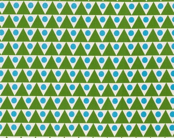 Schumacher Studio Bon Pennant Outdoor Pillow Cover in Green and Blue