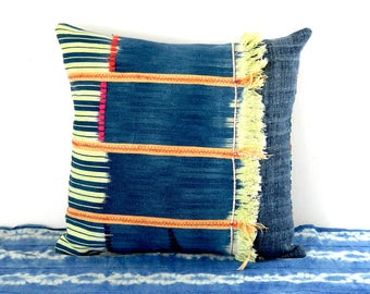 baule cushion, baoule cushion, african cushion, african pillow, indigo pillow, ethnic pillow, ethnic cushion, ooak